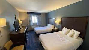 Individually furnished, blackout drapes, iron/ironing board