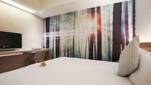 Premium bedding, down duvet, pillow top beds, free minibar