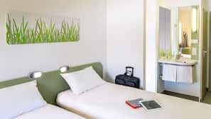 Select Comfort beds, desk, soundproofing, rollaway beds