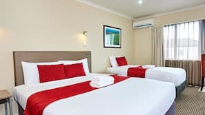 Cots/infant beds, free WiFi, linens