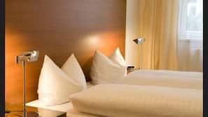 1 quarto, roupas de cama antialérgicas, cofres nos quartos