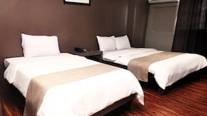Desk, rollaway beds