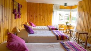 Premium bedding, Tempur-Pedic beds, blackout drapes