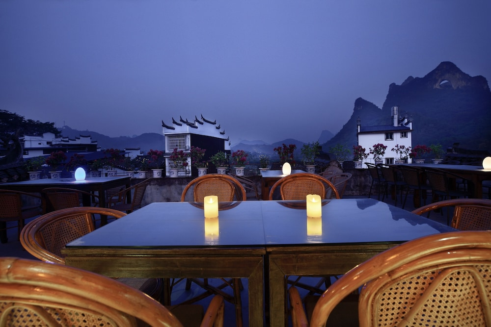 Outdoor Dining, Yangshuo Village Inn