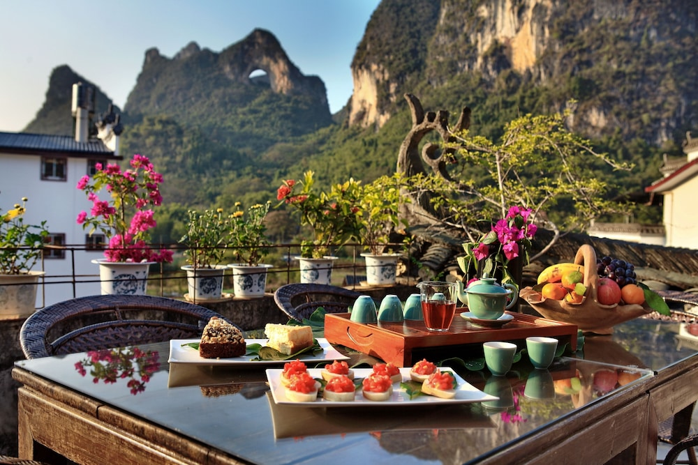 Rooftop terrace, Yangshuo Village Inn