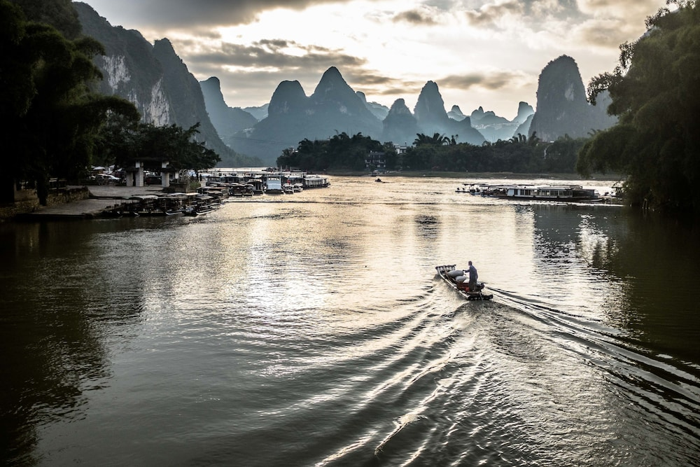 Boating, Yangshuo Village Inn