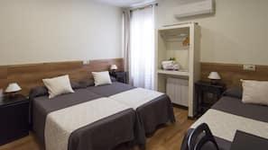 1 slaapkamer, donzen dekbedden, bedden met traagschuimmatras