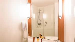Shower, hair dryer