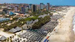 Beach nearby, white sand, 20 beach bars
