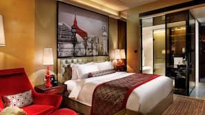 1 間臥室、高級寢具、羽絨被、迷你吧