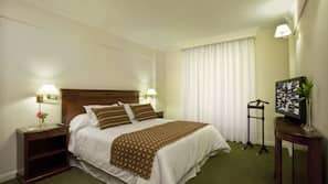 Premium bedding, minibar, in-room safe, laptop workspace