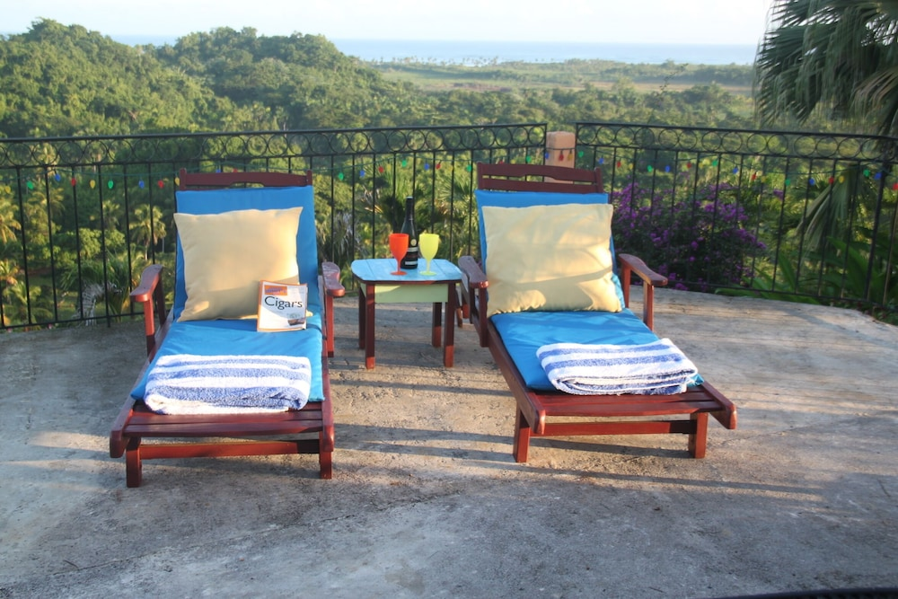 Balcony, Monte Placido - Villa Lily - Ocean View -yoga -pool