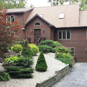 Stunning Berkshire Custom Luxury Home in Private Wooded Community- Walk to Lake