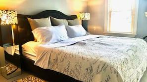 Premium bedding, memory foam beds, iron/ironing board, free WiFi