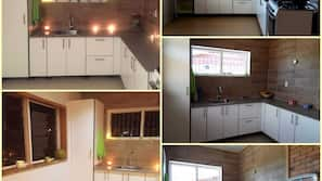 Geladeira, fogão, cooktop, chaleira elétrica