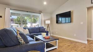 TV, table tennis table