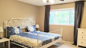 Premium bedding, Select Comfort beds, individually decorated