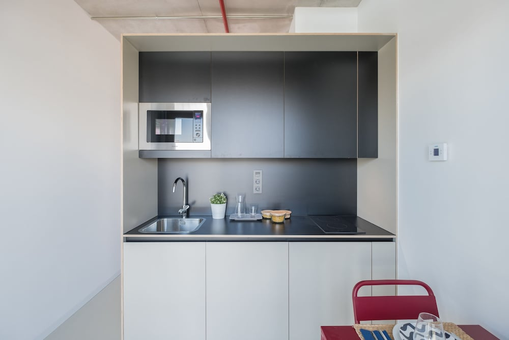 Private Kitchenette, Xior Diagonal Besòs Residence Only for students and academic staff at Barcelona schools/universities