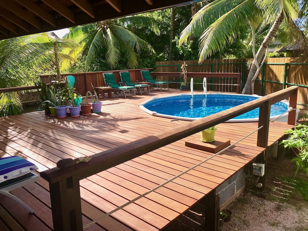 Pool, Craig's Villa - A Beautiful Teak Wood House and Pool