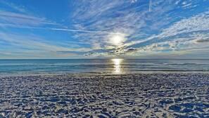 Sun loungers, beach towels