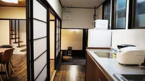 雪櫃、微波爐、爐頭、電熱水壺
