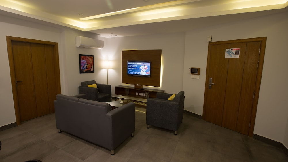 Living Area, Space Luxury Rental Suites