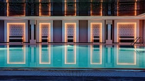 Indoor pool, 6 outdoor pools, open 10:00 AM to 5:00 PM, pool umbrellas