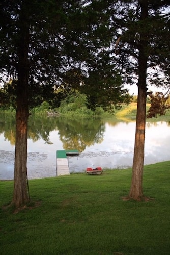 Property Grounds, Charming Cabin Overlooking 5 Acre Lake