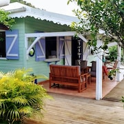 Charming Colorful Creole House in Wood 2ch 4pers With Large Terrace sea View