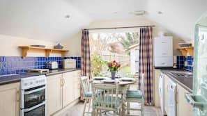 Fridge, dishwasher, high chair