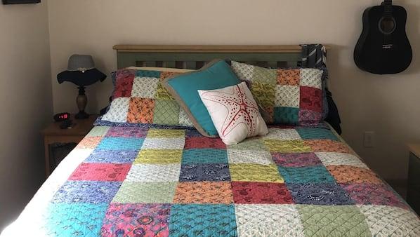 2 bedrooms, iron/ironing board, travel crib, WiFi