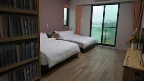 設計自成一格、窗簾、免費 Wi-Fi、床單