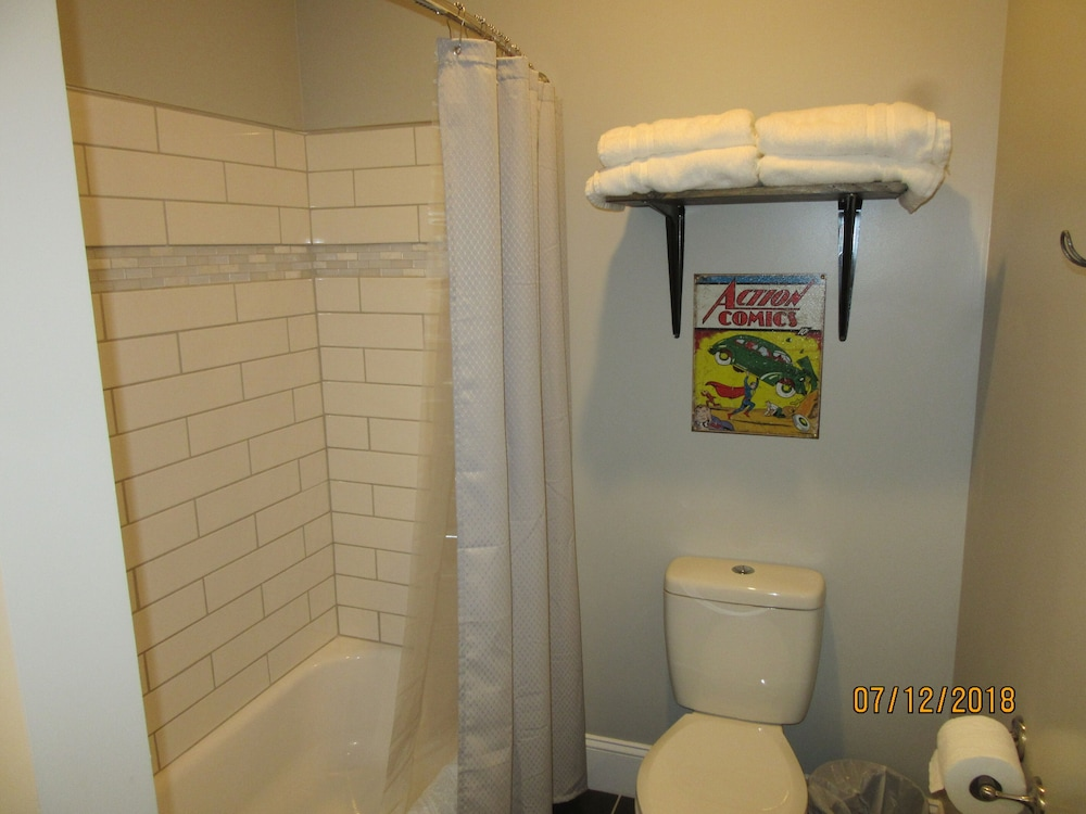 Bathroom, Great Location in the Historic Downtown of Metropolis, Home of Superman