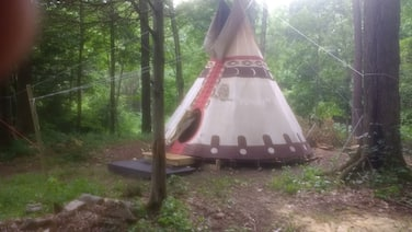 Sioux Tipi on Chloe's Lake