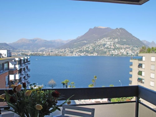 Balcony, Apartment App. Paradiso in Lugano - 5 Persons, 2 Bedrooms