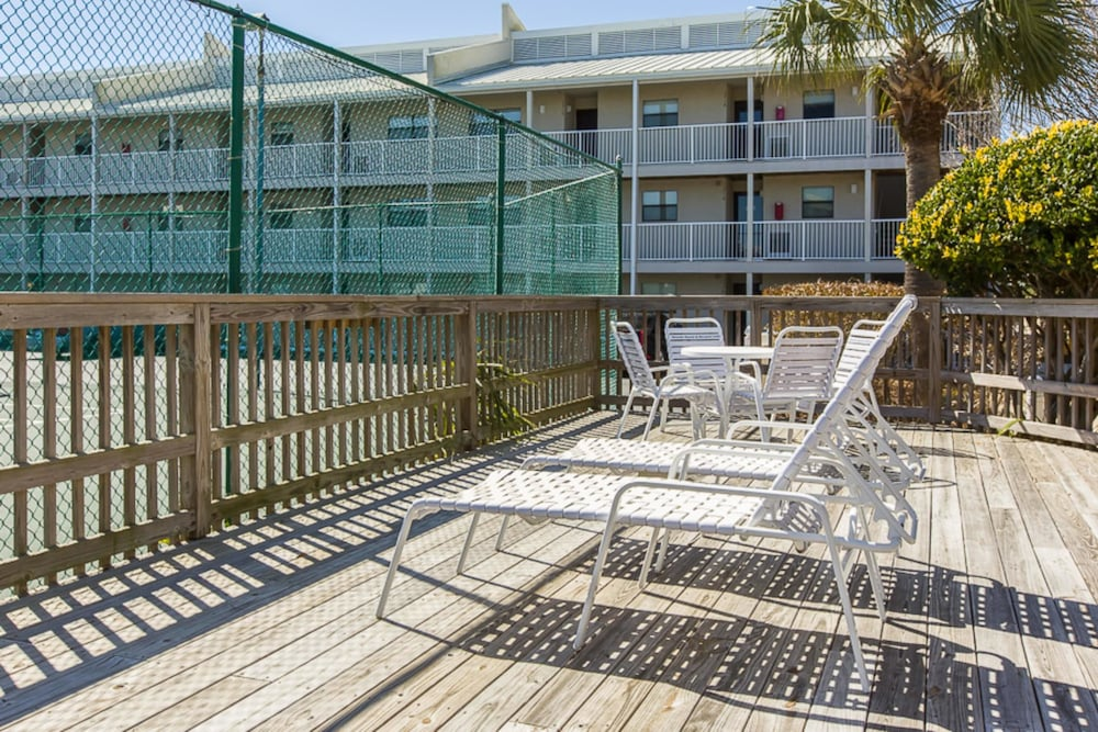 Balcony, Seaside Beach & Racquet Club #3806 by Vacasa