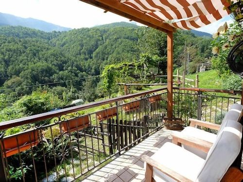 Balcony, Vacation Home Il Gianlupo in Bognanco - 4 Persons, 1 Bedrooms