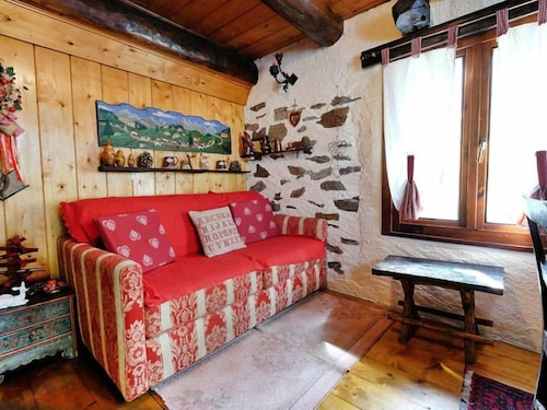 Living Room, Vacation Home Il Gianlupo in Bognanco - 4 Persons, 1 Bedrooms