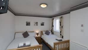 Individually furnished, iron/ironing board, bed sheets