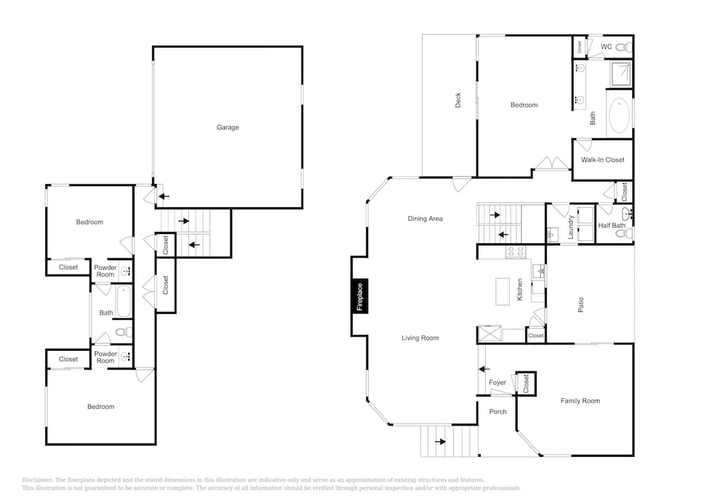 Floor plan, 18 Dillon Beach - 4 Br Home