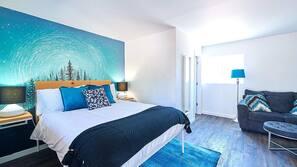 Minibar, blackout drapes, iron/ironing board, free WiFi