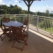 House With 3 Bedrooms in Le Morne-vert, With Wonderful sea View, Furnished Garden and Wifi - 5 km From the Beach