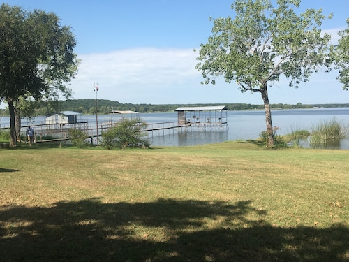 Lake House on Lake Leon With Dock and Boat Ramp
