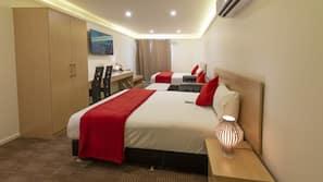 Premium bedding, free minibar, desk, laptop workspace