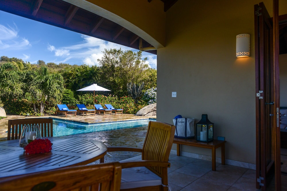 Balcony, Gorgeous 3 BR Villa With Spectacular Views of Crook's Bay. Renovated & Ready!