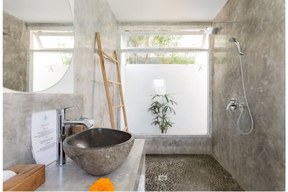 Bathroom, Exquisite Architectural Villa With Outdoor Pool