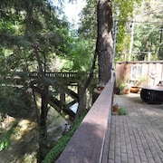 Romantic Riverview Studio Wifi Courtyard Gasfirepit Patiolights 15min>santa Cruz
