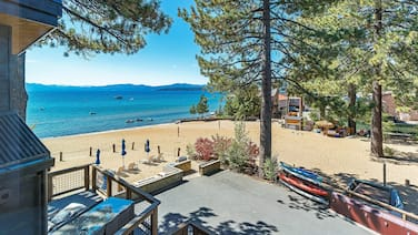 Tahoe Beachfront Retreat-walk to King's Beach Shops & Restaurants!