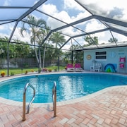 Cocoa Beach Getaway House - Walk to Beach - Heated Pool