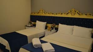Frette Italian sheets, premium bedding, pillow top beds, minibar
